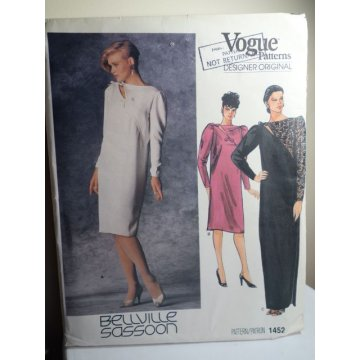 Vogue Bellville Sassoon Sewing Pattern 1743