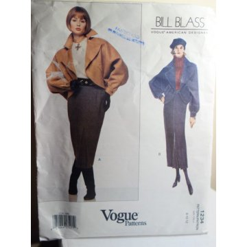 VOGUE Bill Blass Sewing Pattern 1234