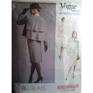VOGUE Bill Blass Sewing Pattern 1957