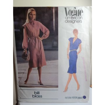 Vogue Bill Blass Sewing Pattern 2642