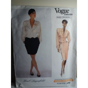 VOGUE Karl Lagerfeld Sewing Pattern 2293