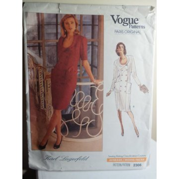 VOGUE Karl Lagerfeld Sewing Pattern 2306