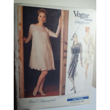 Vogue Karl Lagerfeld Sewing Pattern 2407