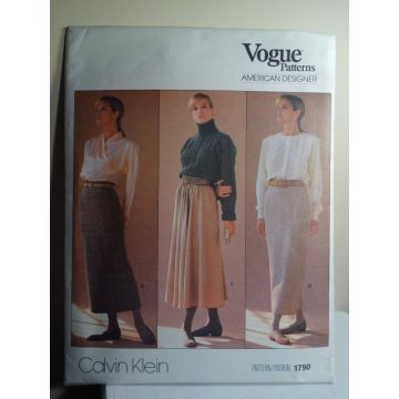 Vogue Calvin Klein Sewing Pattern 1790