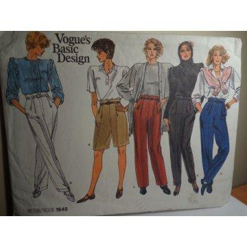 Vogue Sewing Pattern 1649