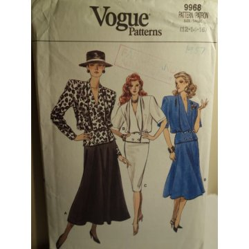 VOGUE Sewing Pattern 9968