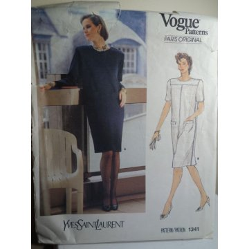 Vogue Yves Saint Laurent Sewing Pattern 1341