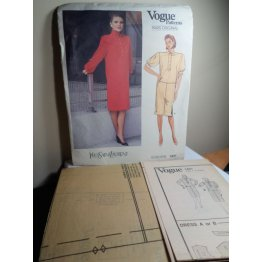 Vogue Yves Saint Laurent Sewing Pattern 1431